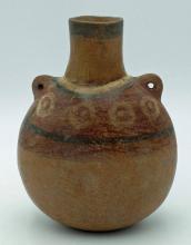 Pre-Columbian Wari Poly chrome Canteen, CA AD 650-800