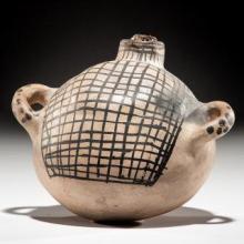 Historic Cochiti Pottery Canteen, #1066