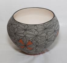 Acoma Pottery Olla by V. Victorino, 1980's