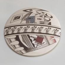 Acoma Pottery Seed Jar by Charmae Shields Natseway, 1980's