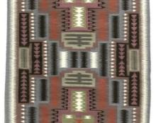 Native Rug, Navajo Rug or Weaving, Storm Pattern