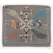 Native American Navajo Sand Painting Weaver/Rug by Tom Harrison (Dine, 20th Century), #1294