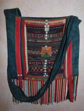Vintage Purse : Rare Large Vintage Akha Purse from Northern Thailand, ca 1950's-60's
