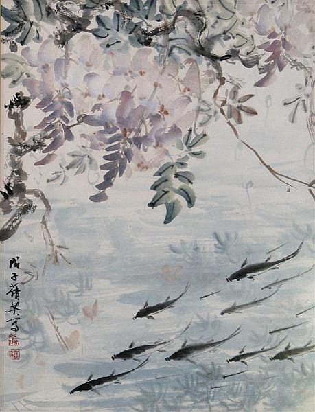 Chien-Ying Chang (1909-2003) Weeping sakura