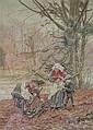 Watercolour: Thomas Bushby (1861-1918) Wood, Thomas Bushby, Click for value