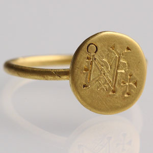 Byzantine Monogram Ring: NO RESERVE