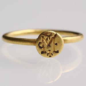 Byzantine Monogram Ring: NO RESERVE