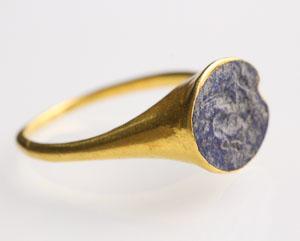 Roman Lapis Lazuli Intaglio Ring: NO RESERVE