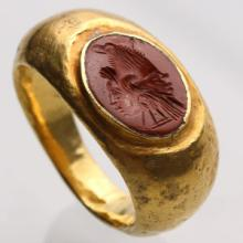 Carnelian Intaglio Ring with Gryllus: NO RESERVE