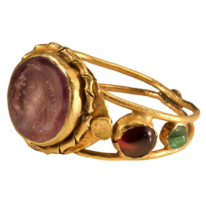Roman Amethyst Intaglio Ring: NO RESERVE