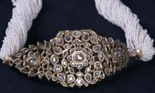 Old Indian Bazuband Inlaid with Diamonds