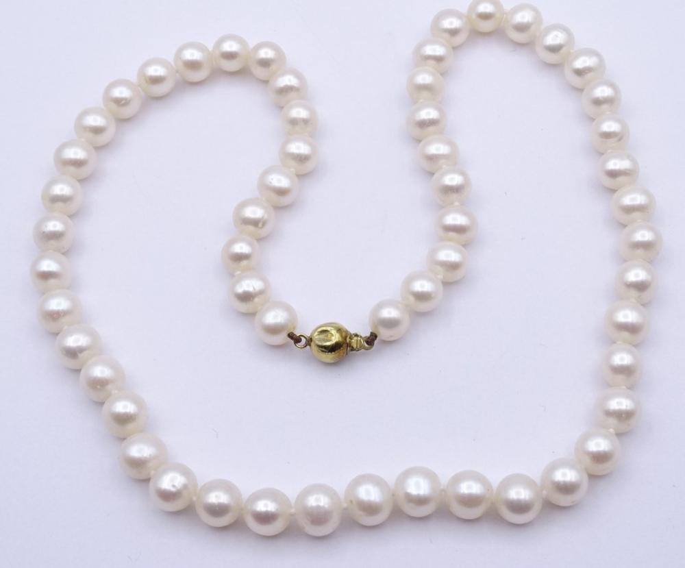 Perlen Halskette mit GG Verschluss 0.375