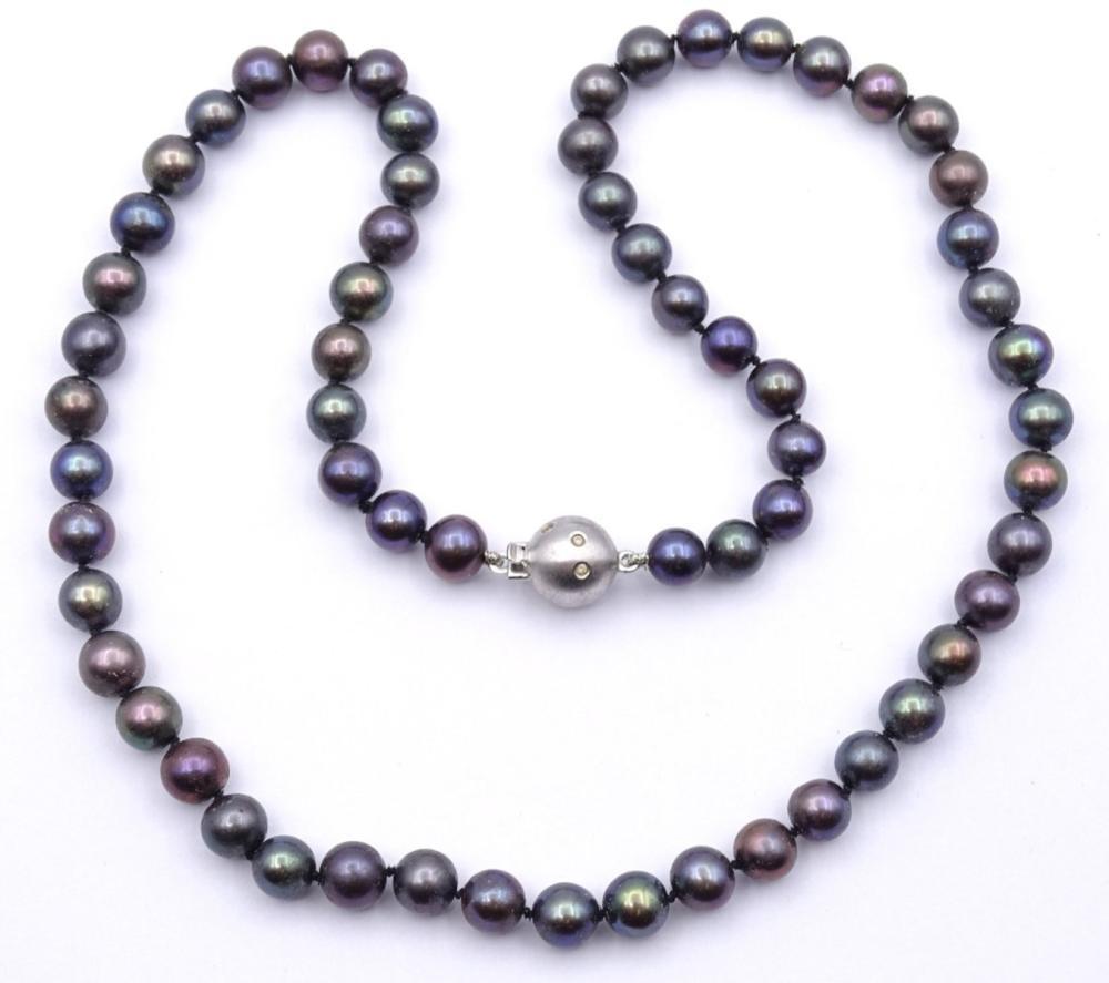 Perlen Halskette mit WG Verschluss 0.585