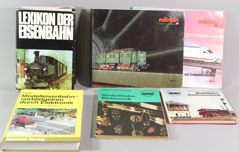 Konvolut von 6 Büchern/Katalogen, Eisenbahn und Modelbahnen