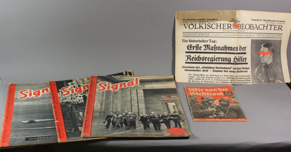 4x div. Magazine sowie eine Zeitung, 3. Reich.