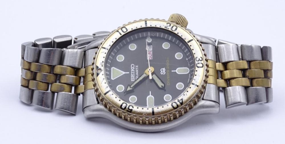 "Herren Armbanduhr ""Seiko"", Diver´s 200m, Quartzwerk"