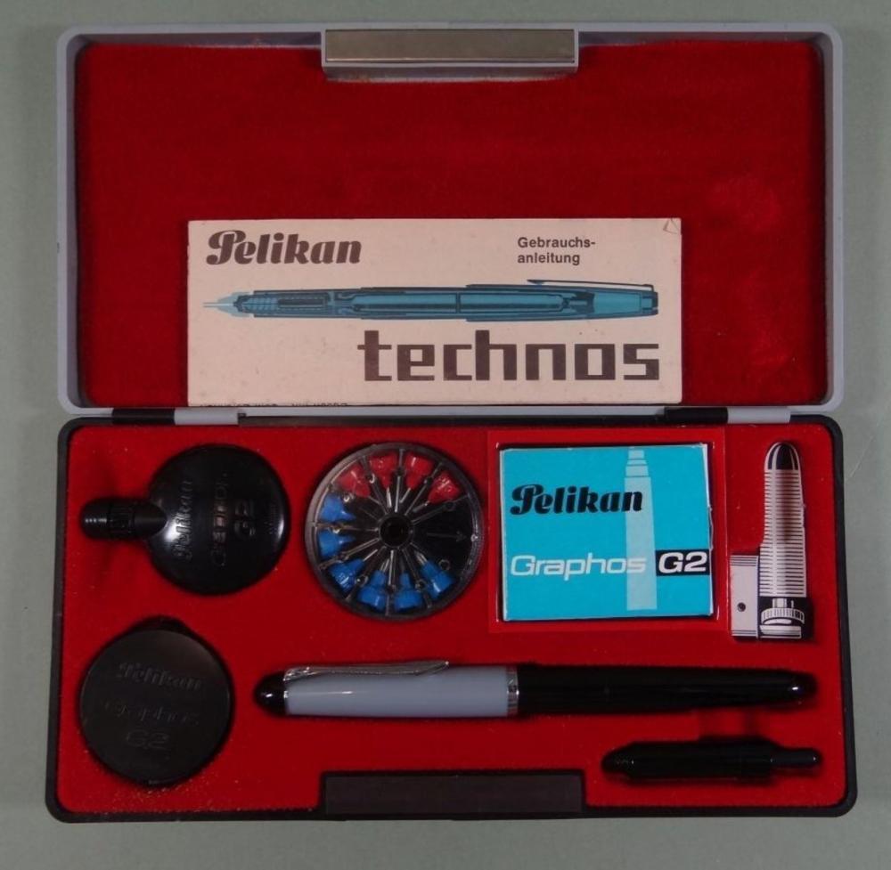 """Kasten """"Pelikan Technos G2"""" mit Beschreibung"""