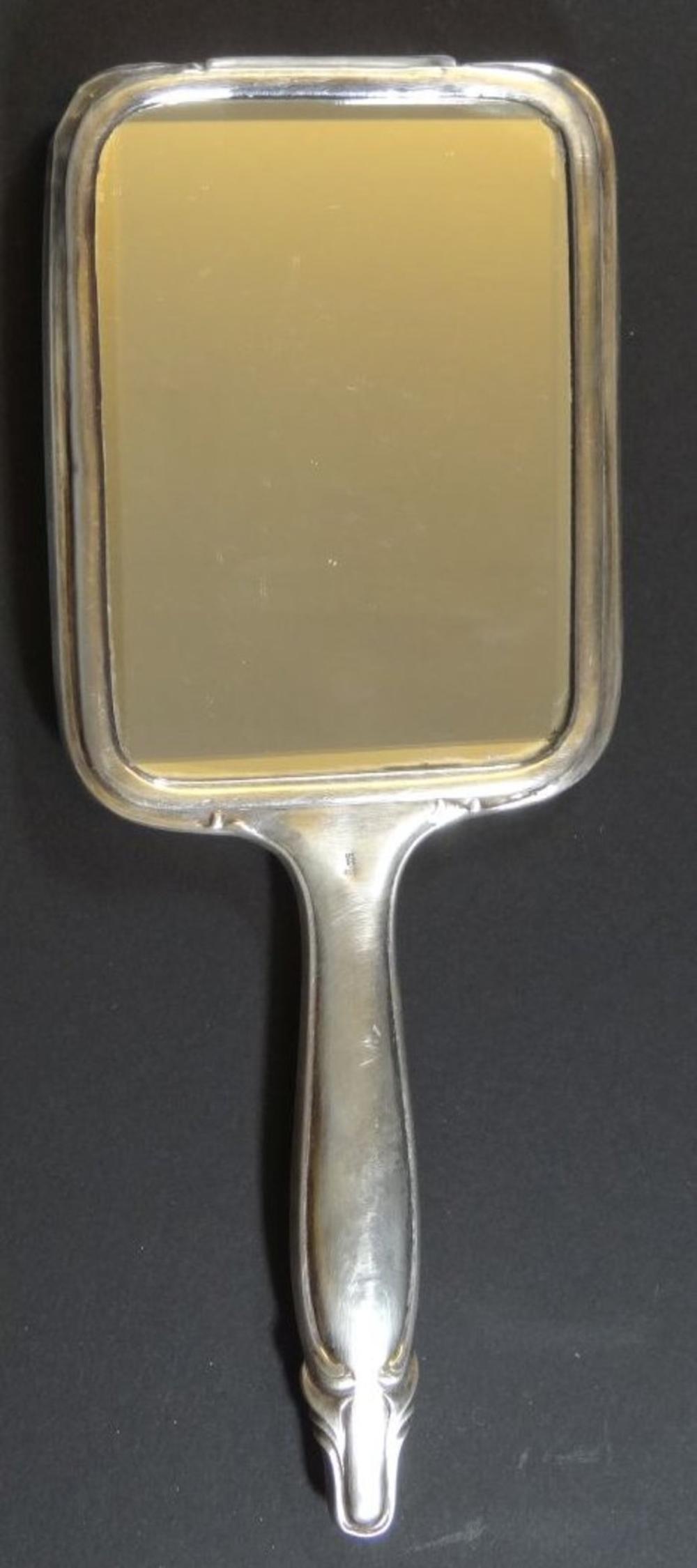 einzelner Handspiegel, Silber-800-