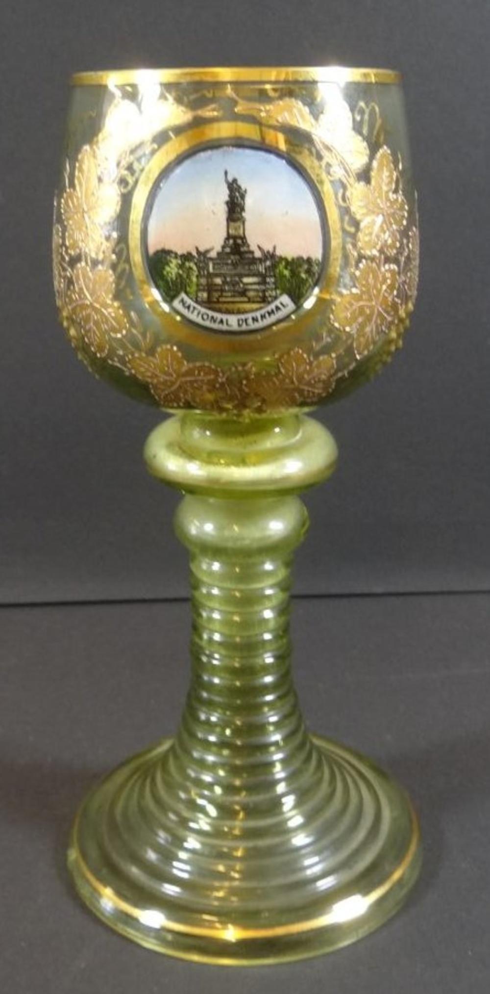 Andenken-Weinglas mit National-Denkmal