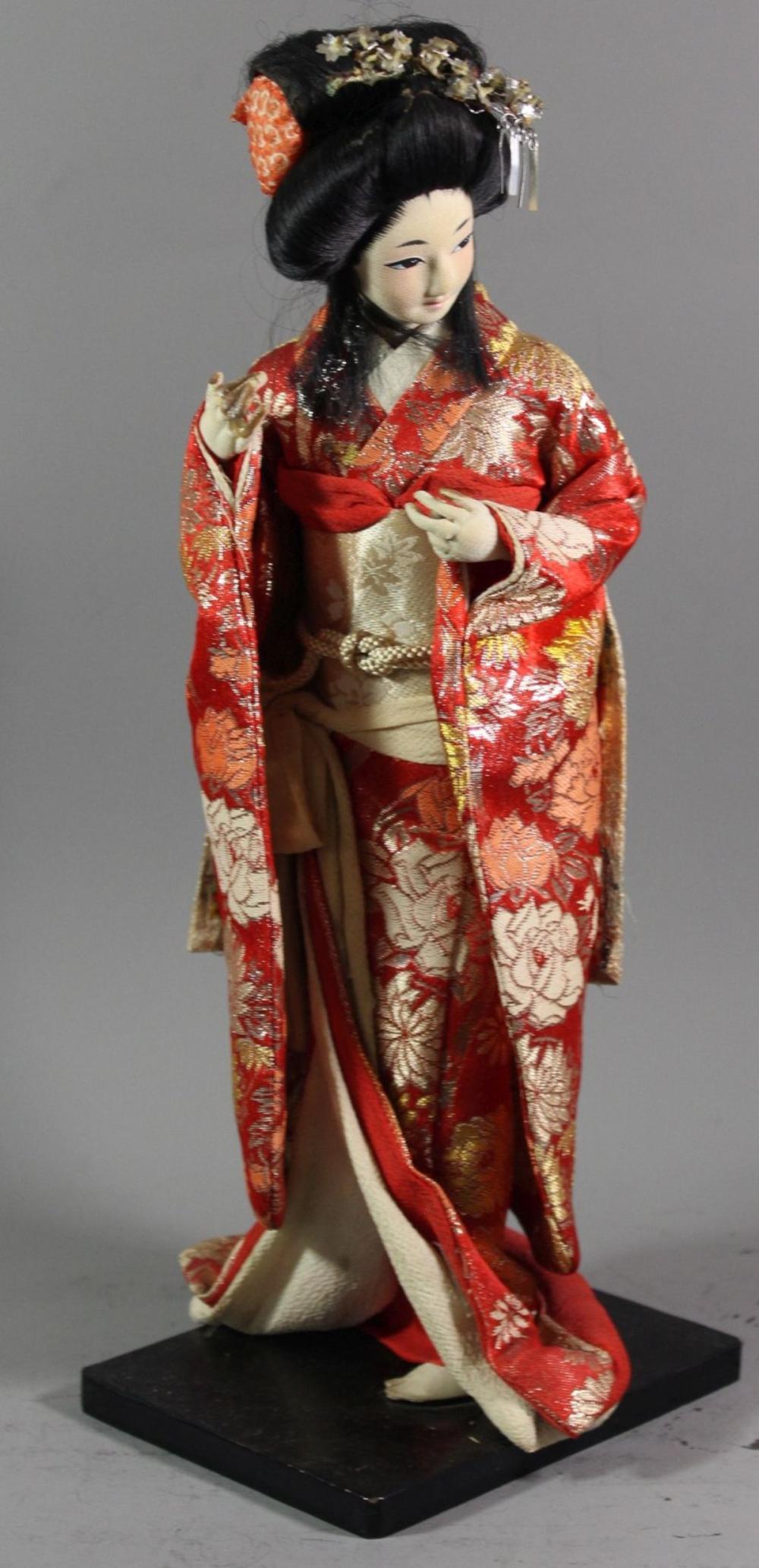 Geisha-Puppe, Japan, H-37,5cm
