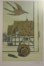 Pit MORELL (1939), Farbradierung, Nr. 182/350