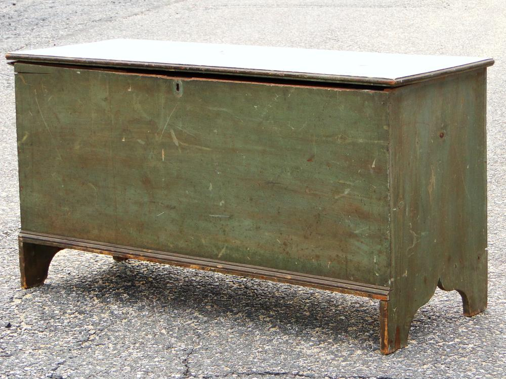18TH C PAINTED BLANKET CHEST