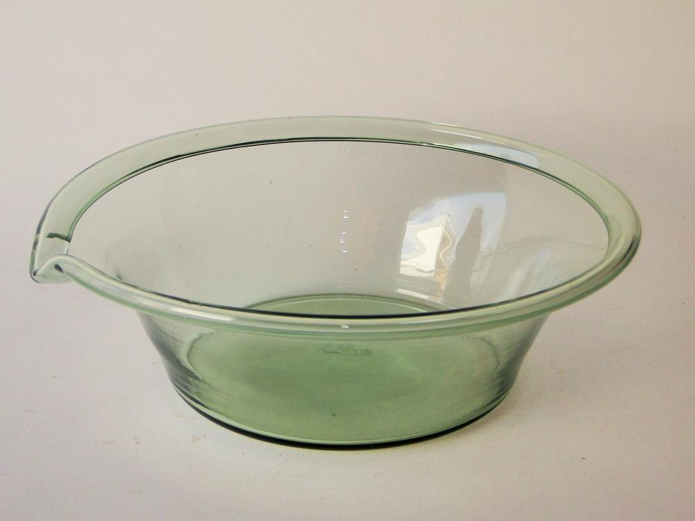 19TH C BLOWN GLASS MILK PAN