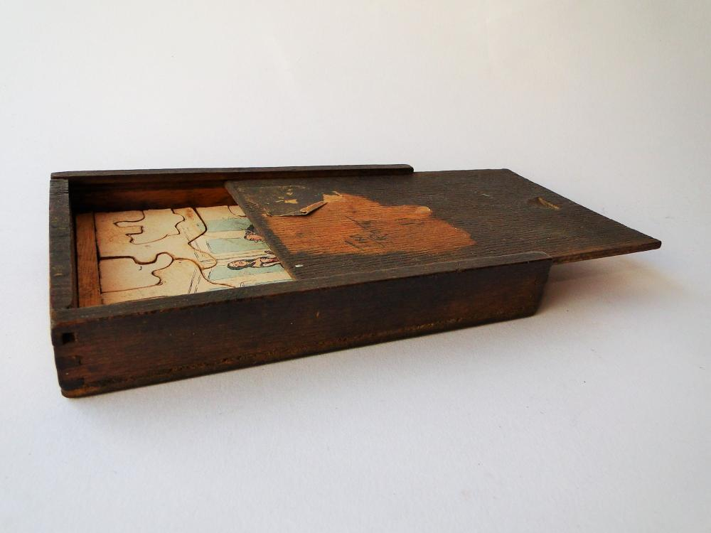 19TH C WOODEN JIGSAW PUZZLE