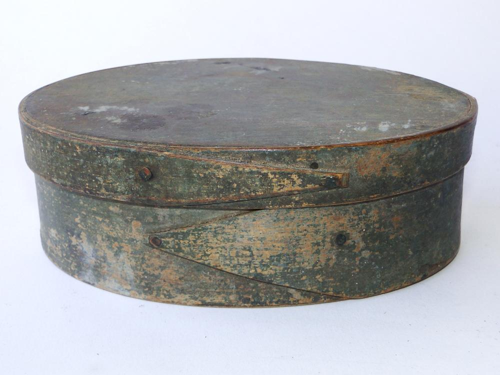 OVAL PAINTED SPICE BOX