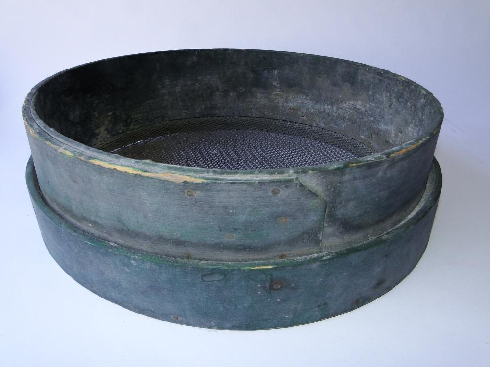 PRIMITIVE GREEN PAINTED SIEVE