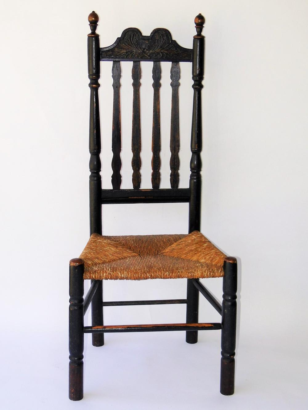 EARLY 18TH C BANNISTER BACK CHAIR