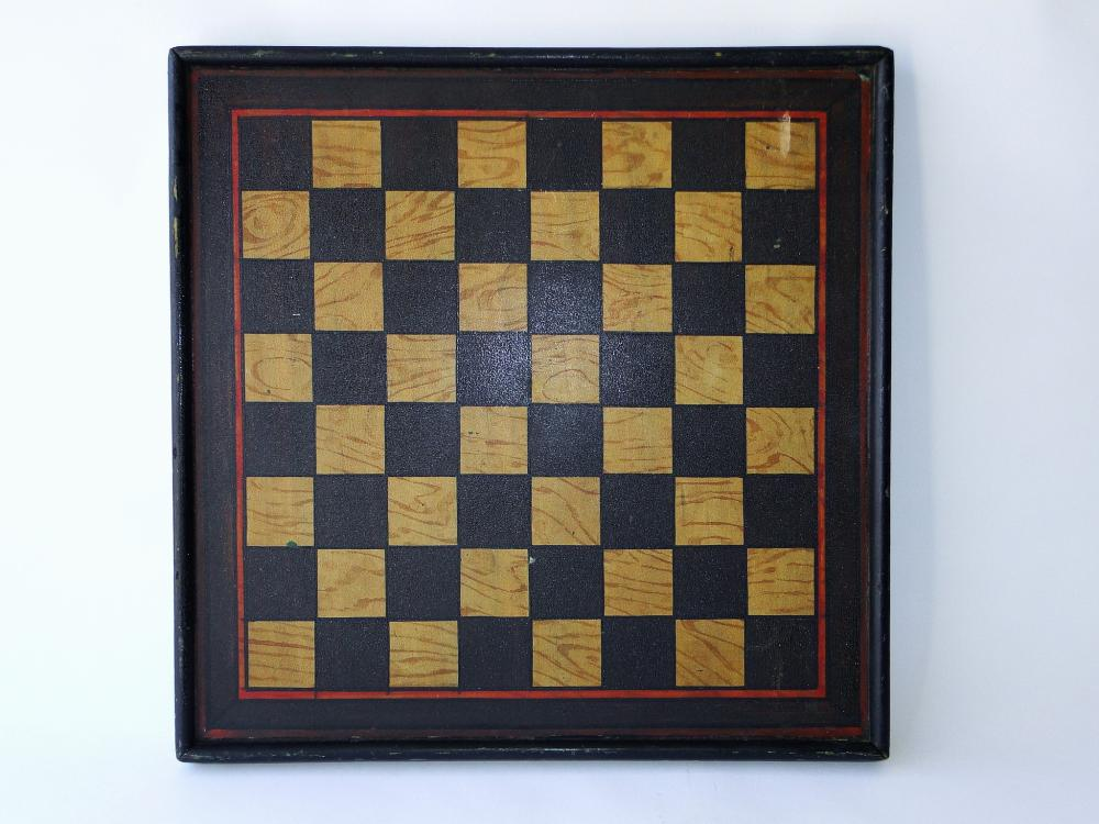 19TH C PAINTED GAMEBOARD