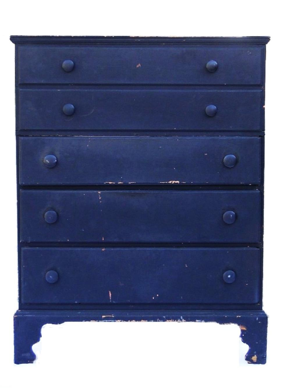 18THC W AND M THREE DRWR BLANKET CHEST