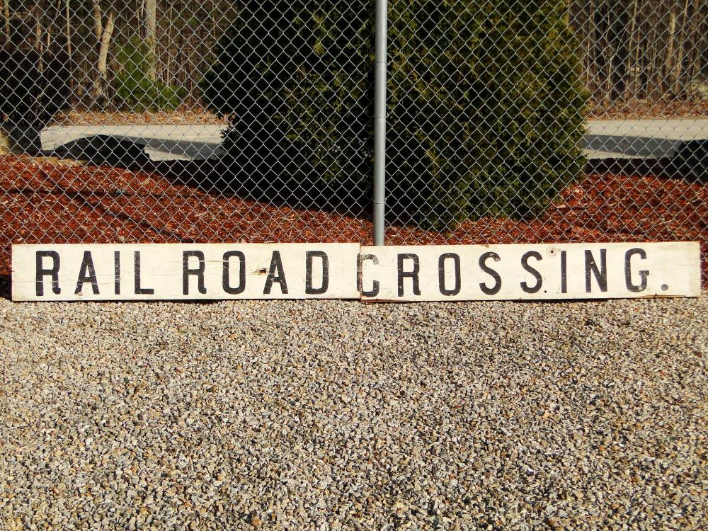 PAINTED RAILROAD SIGN