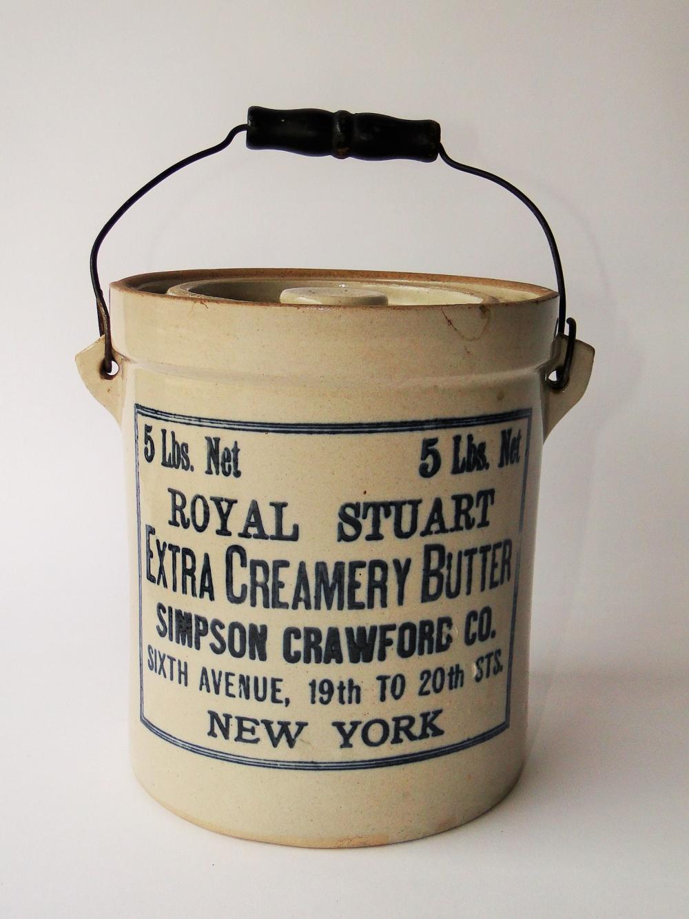 ADVERTISING BUTTER CROCK NEW YORK CO.