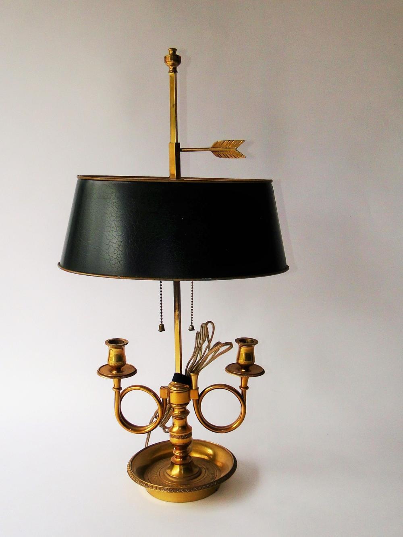 VINTAGE TOLE BOUILLOTTE LAMP