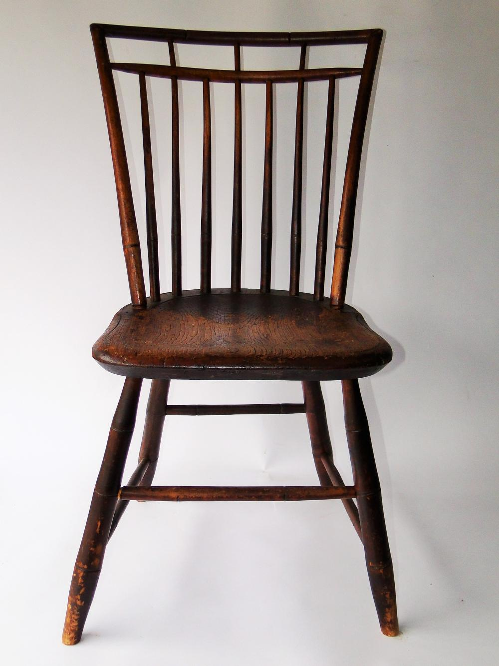 EARLY BAMBOO WINDSOR SIDE CHAIR