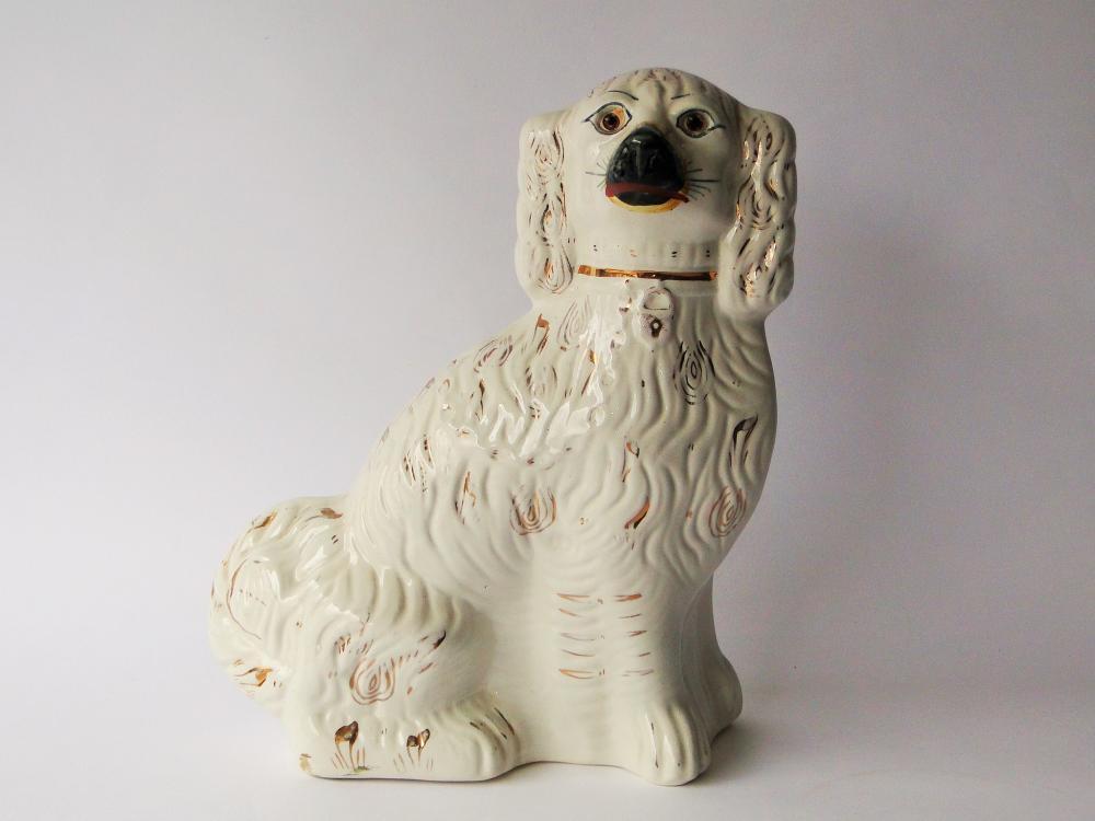 LARGE 19TH C STAFFORDSHIRE DOG
