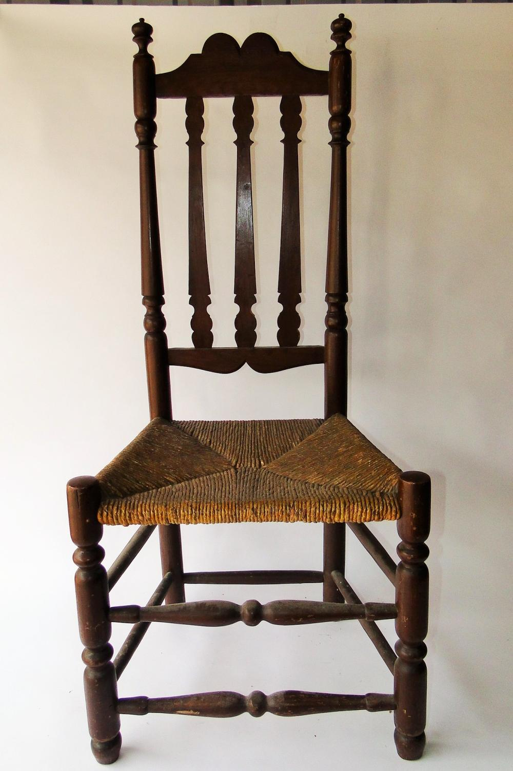 19TH C BANISTER BACK CHAIR