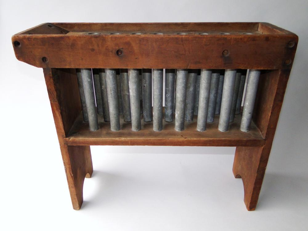 EARLY 19TH C WOODEN CANDLE MOLD