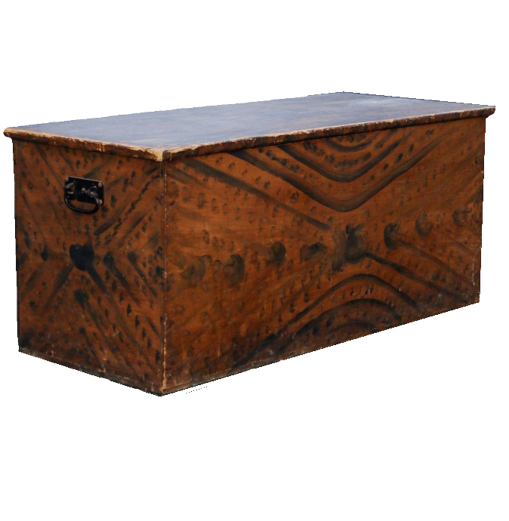 C 1820 DECORATED BLANKET CHEST