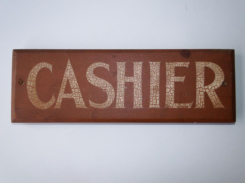 C 1920 CASHIERS SIGN