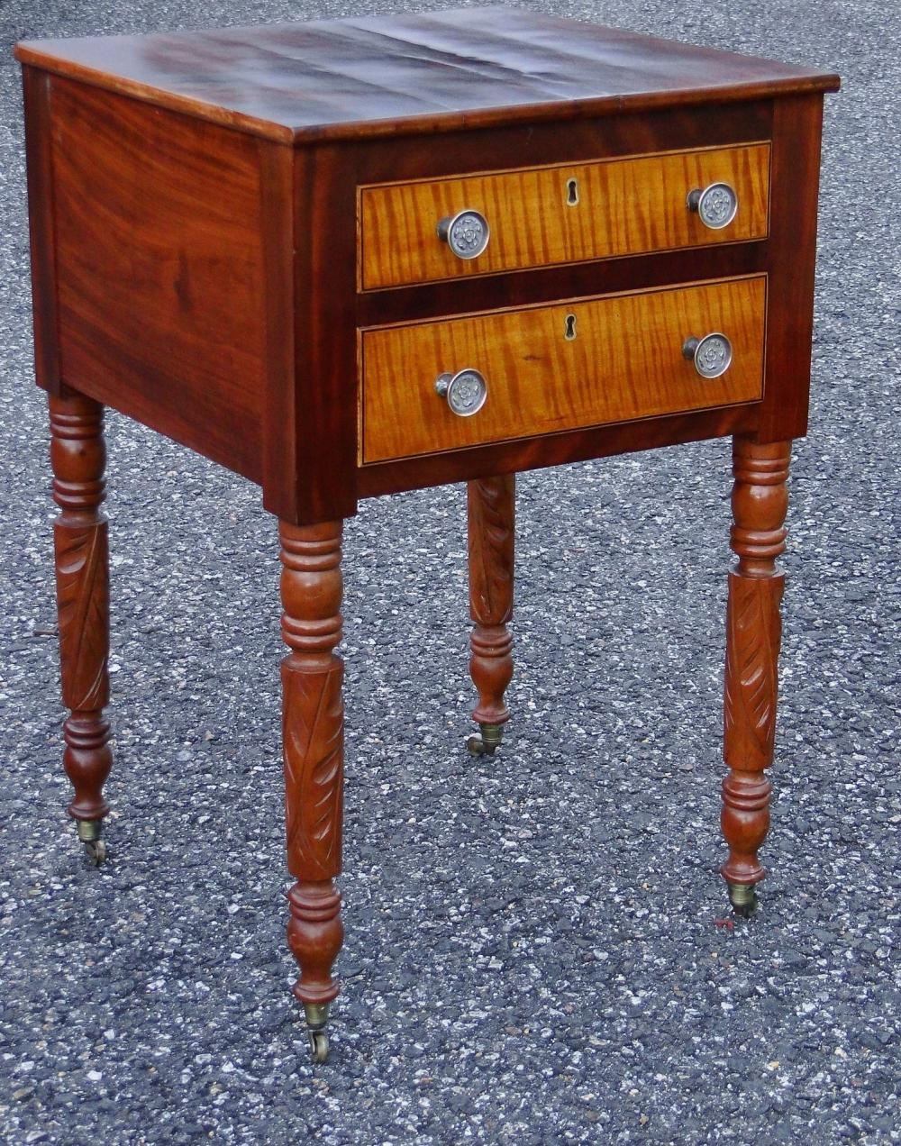 19TH C TWO DRAWER STAND
