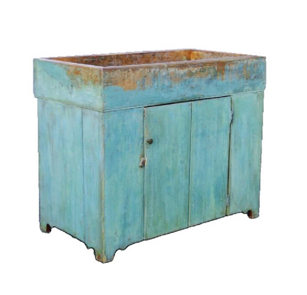 EARLY 19TH C PAINTED  DRY SINK