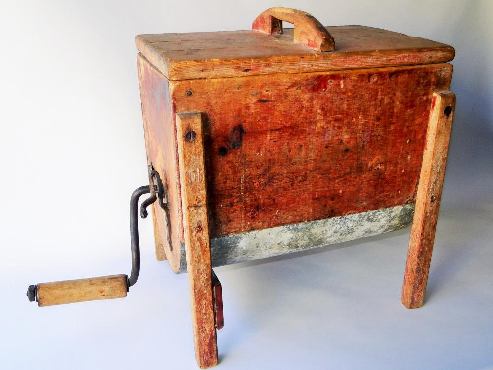 19TH C TABLE TOP BUTTER CHURN