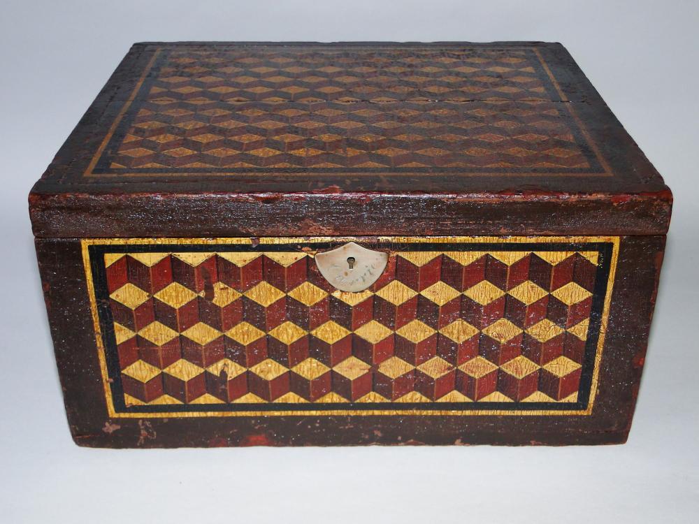 19TH C INLAID VALUABLES BOX