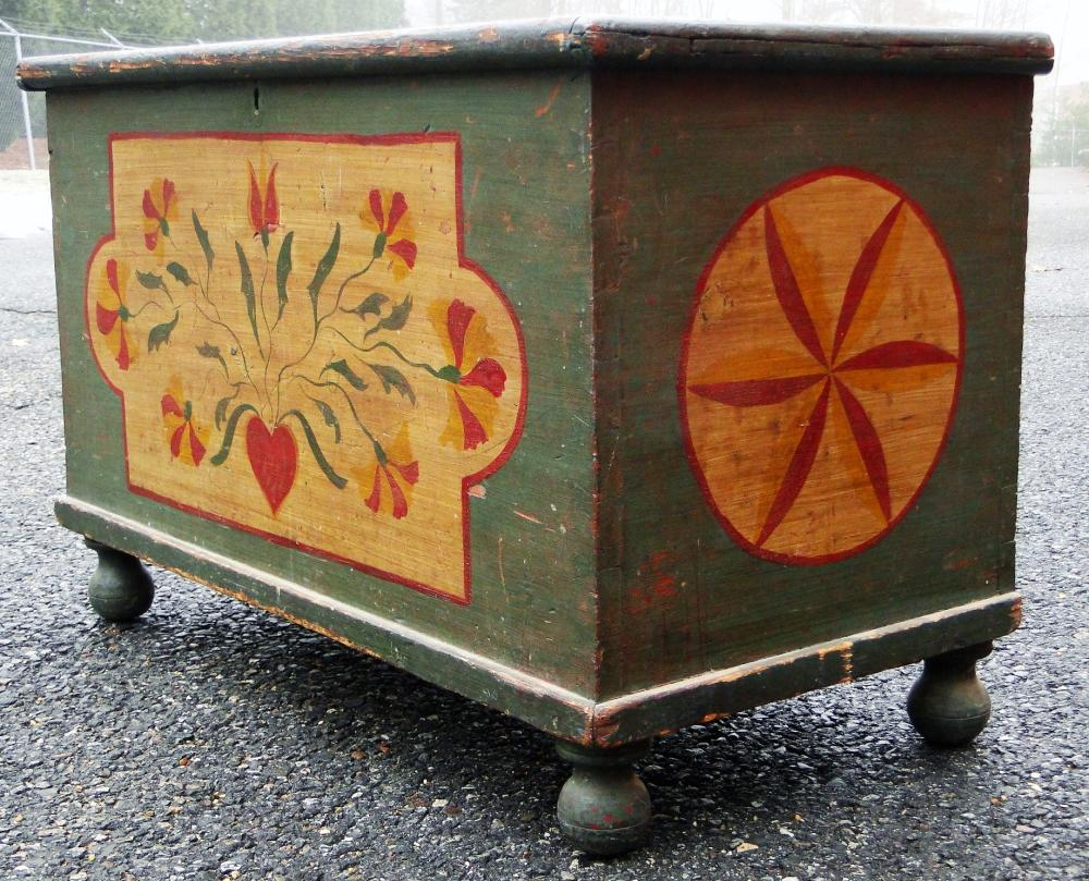FINE PAINT DECORATED PA BLANKET CHEST