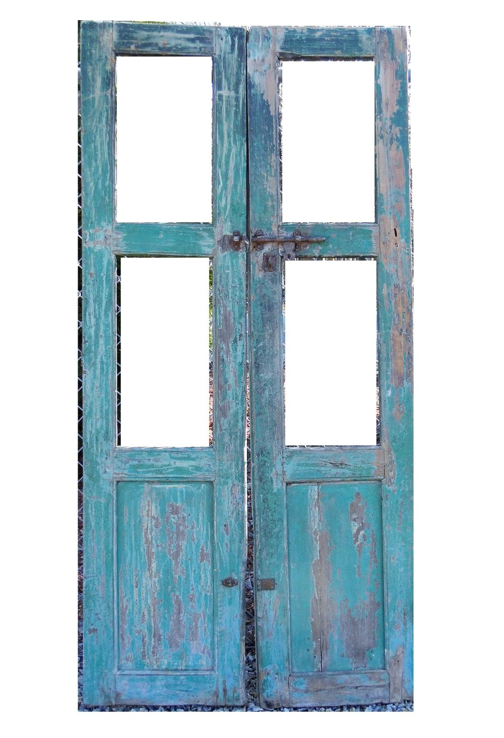 PAIR 18TH C FRENCH DOORS