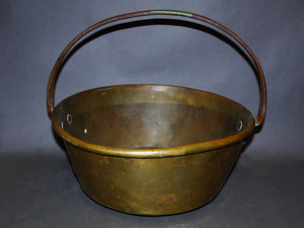 19TH C COPPER PAN W/ HANDLE