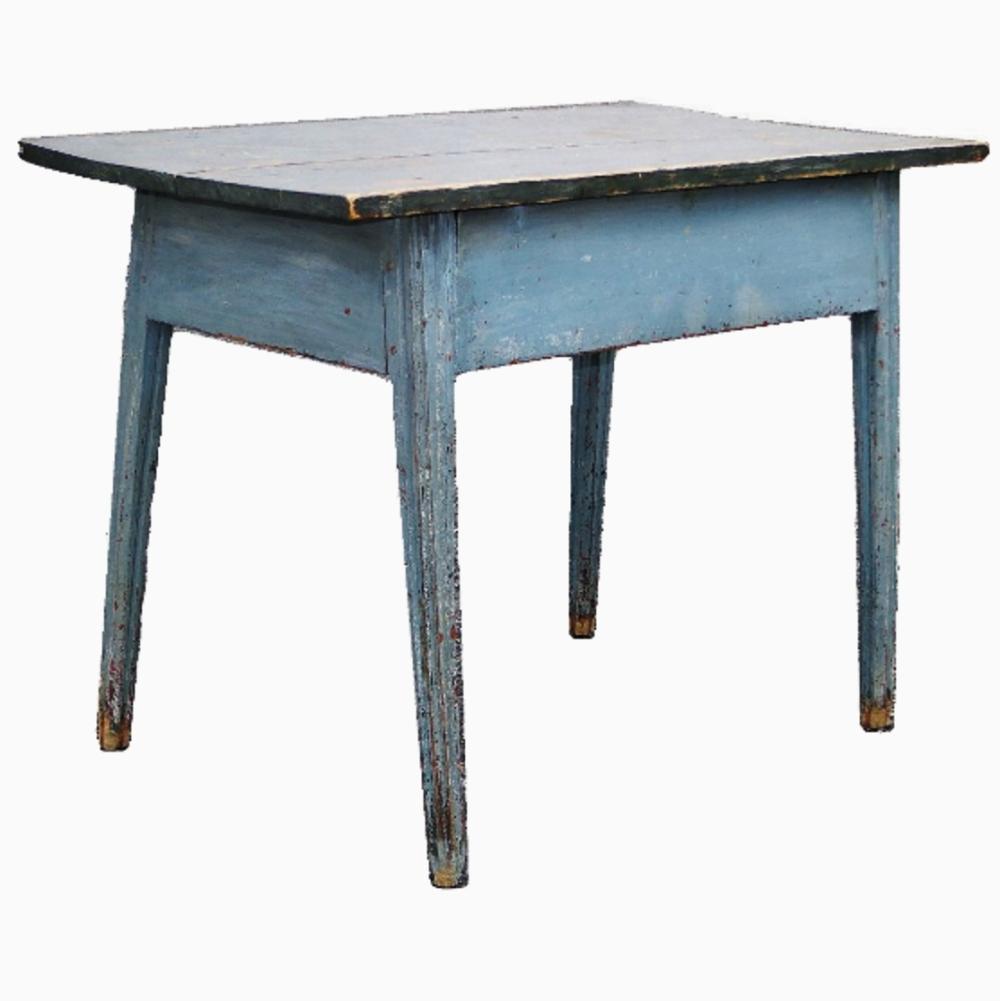 18TH C SPLAYED LEG TAVERN TABLE